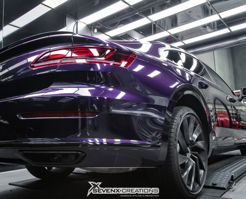 VW Arteon Inozetek midnight Purple Wrap 14