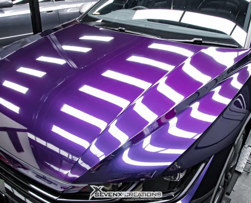 VW Arteon Inozetek midnight Purple Wrap 20