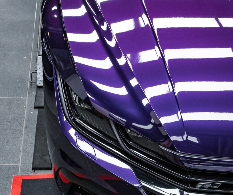 VW Arteon Inozetek midnight Purple Wrap 6