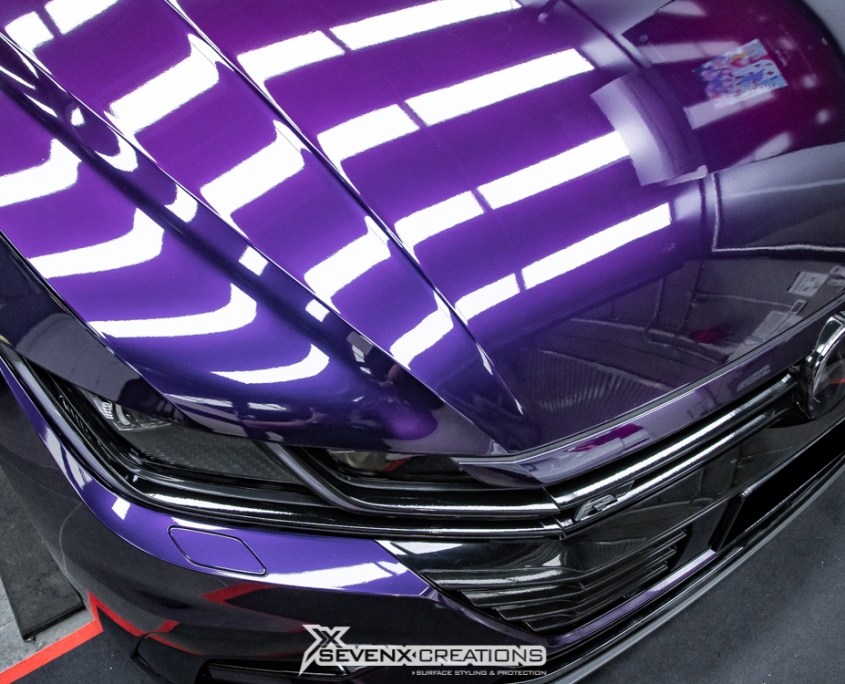 VW Arteon Inozetek midnight Purple Wrap 7