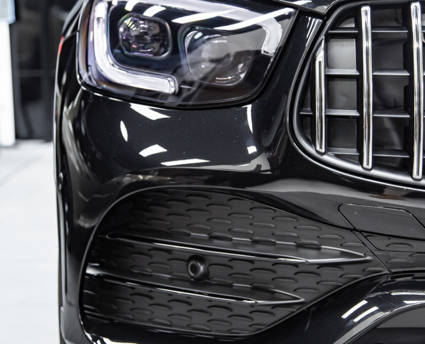 Mercedes benz GLC suntek full front ppf wrap with pomponazzi xx real glass coating