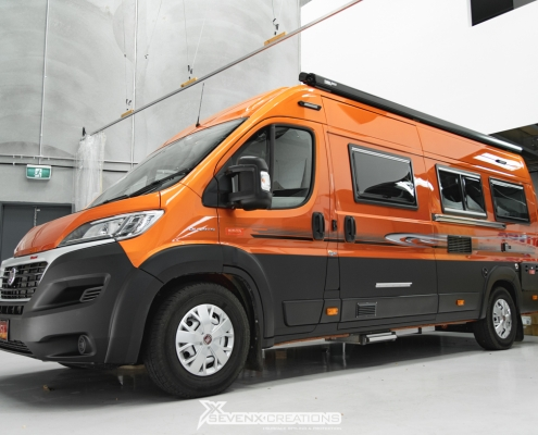 Fiat Ducato Full Front PPF Side Matte Black Wrap