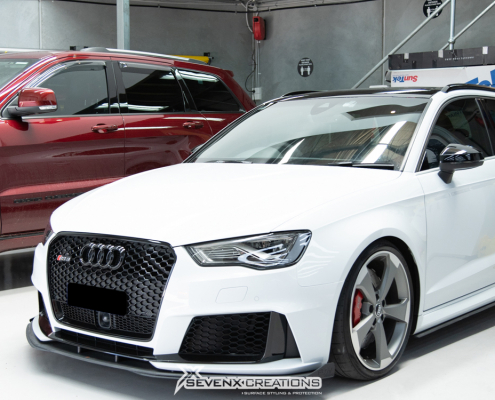 Audi RS Roof Rail Front Grille Surround Gloss Black Chrome Delete