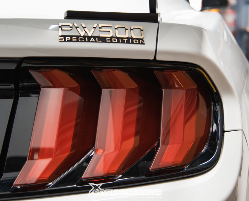 Ford Mustang Shelby GT PV edition Headlight dyno door handle gloss black taillight red tint