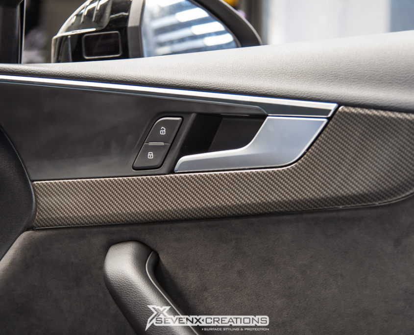 Audi A Interior Gloss Carbon Wrap Front Badge Halo