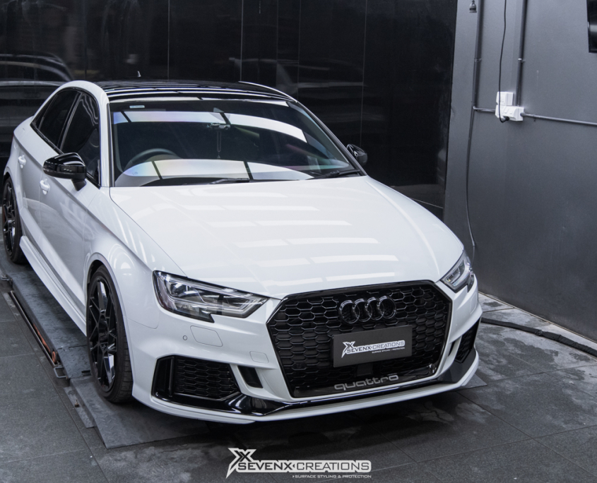 Audi RS Sedan Full car PPF Bodyfence X and Roof Gloss Black PPF tuned web