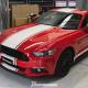 Ford Mustang Stripes kit Gloss White tuned web